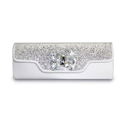 Lunar Silver Glitz Clutch Bag