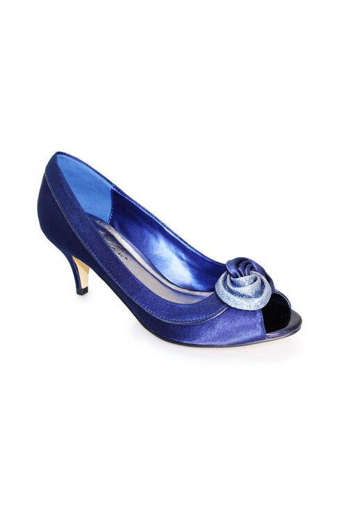 Lunar Blue Kitten Heels