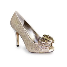 Lunar Gold Glitz Court Shoe