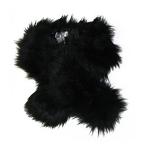 Suzannbet Black Fun Fur Scarf