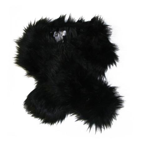 Suzannbet Black Fun Fur Scarf