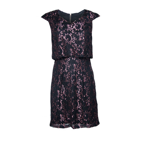 800dde2631fc Maya Pink Black lace Dress