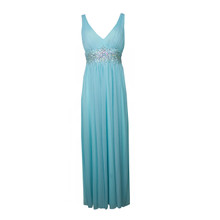 My Michelle Mint Bead Accessory Waist Long Dress