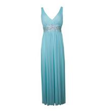 My Michelle Mint Bead Accessory Waist Long Dress