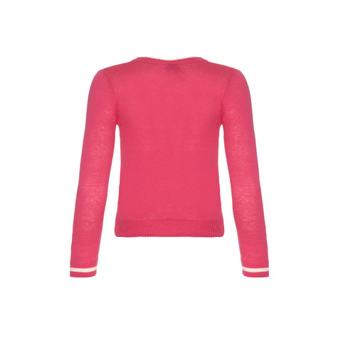 Yumi Girls Pink Round Neck Knit