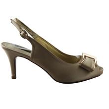 Jaclin Beige Peep Toe Sling Back Court Shoe