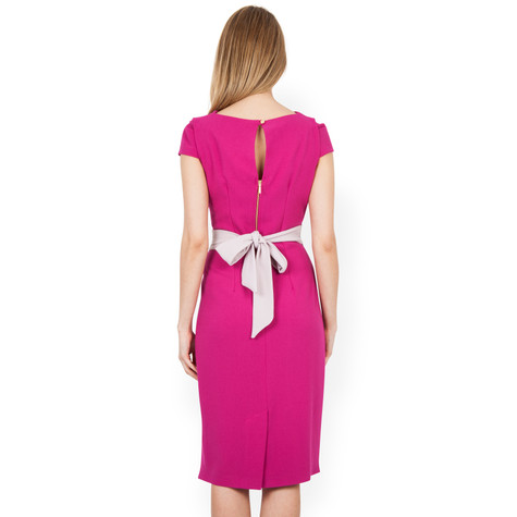 Closet Magenta Bow Back Dress