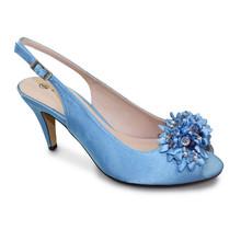 Lunar Pale Blue Peep Toe Sling Back Shoe