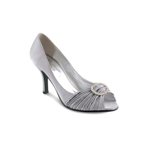 Lunar Grey Ripple Peep Toe Shoe