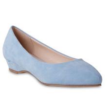 Belle Star Blue Low Wedge Slip-on Shoe