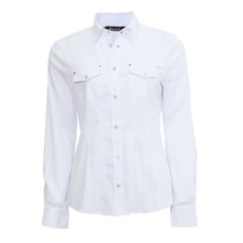 Twist 2 Pocket White Shirt
