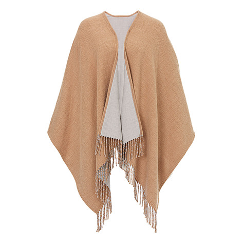 Betty Barclay Beige Large Knit Cape