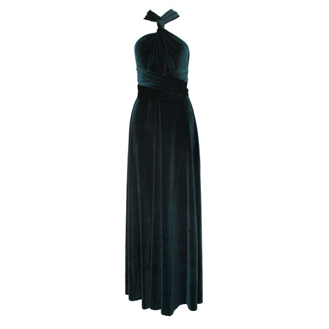 Ravon Navy Long Transformer Dress