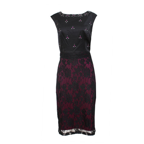 Sangria Black Lace Dress Pamela Scott