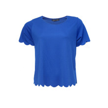 Independent C Royal Blue Round Neck Top