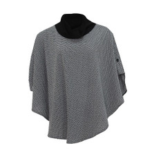 SophieB Black & White Pattern Cape Jacket