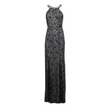 My Michelle Black Lace Halter Neck Dress