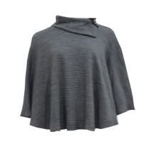 Twist Grey Knit Cowl Neck Cape Knit