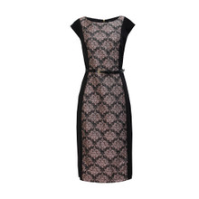 Zapara Black & Pink Embellished Dress