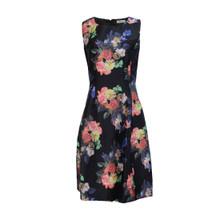 Zapara Black Floral Print Dress