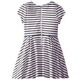 My Michelle Kids Big Girls' Stripe Knit Dress with Contrast Piping and Necklace