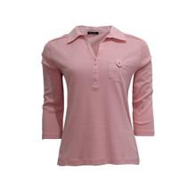 Twist Pink Polo Pleat Top