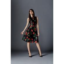 Zapara Red Rose Lantern Dress