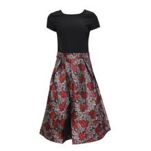 Zapara Red/Silver Bracode Dress
