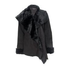 SophieB Black Faux Shawl Coat
