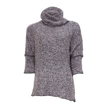 SophieB Grey & Pink Cowl Neck Knit