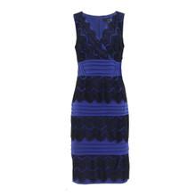 Sangria Atlantic Blue Lace Tier Dress