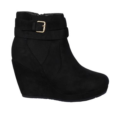 Chic Nana Micro Fibre Wedge Ankle Boot