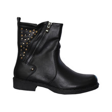Enzo Nucci Black Warm Lined Stud Ankle Boot
