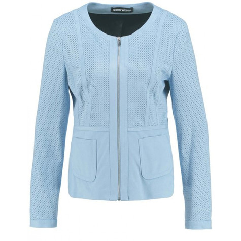 Gerry Weber Blue Suede Jacket