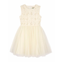 Yumi Girls Girls Floral Textured Prom Dress