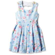 Yumi Girls Bonded Lace Heart Cut Out Dress