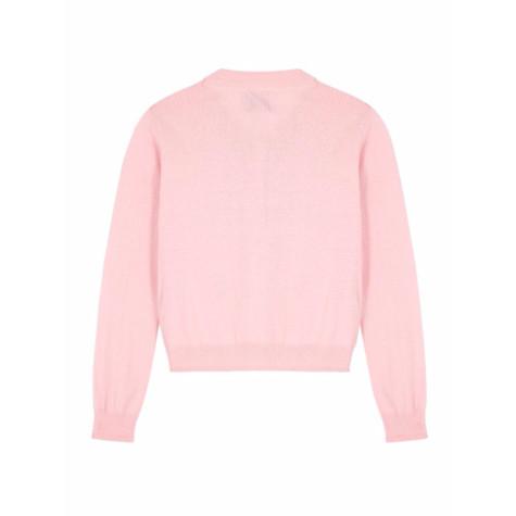 Yumi Girls Girls Embellished Button Cardigan In Fuchsia Pink