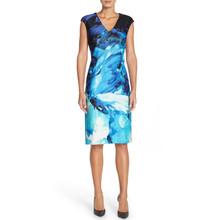 Donna Ricco Print Scuba Sheath Dress