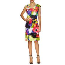 Donna Ricco Oversized Floral Cap Sleeve Dress
