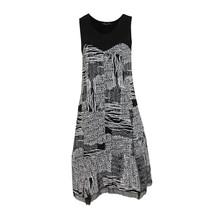SophieB Black & Ecru Abstract Animal Print Dress