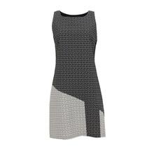 SophieB Black & White Sleeveless Jacquard Dress