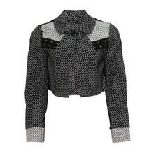 SophieB Black & White Jacguard Jacket