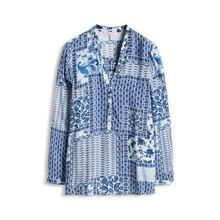 Esprit Blue & White Pattern Blouse