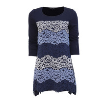 SophieB Blue Long Sleeve Lace Top