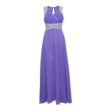 Max And Lola Lavender Mesh Back Long Dress