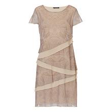 Betty Barclay Layered Beige Print Dress