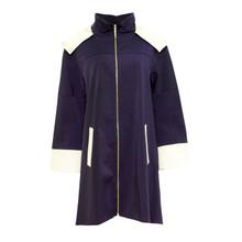 SophieB Navy 2 Tone Hooded Rain Coat