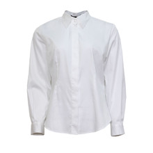 SophieB White Cotton Button Up Blouse