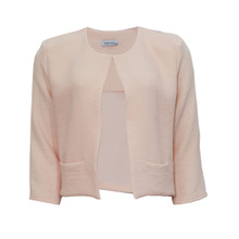Zapara Powder Pink Crepe Short Jacket
