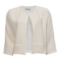 Zapara Off White Crepe Short Jacket